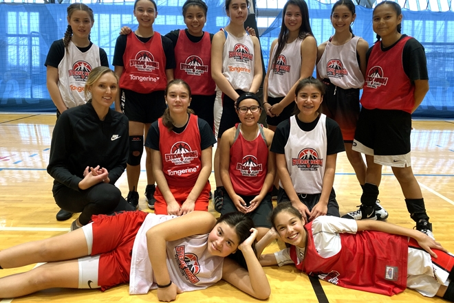 Team BC NAIG 14U female basketball shooting for another medal